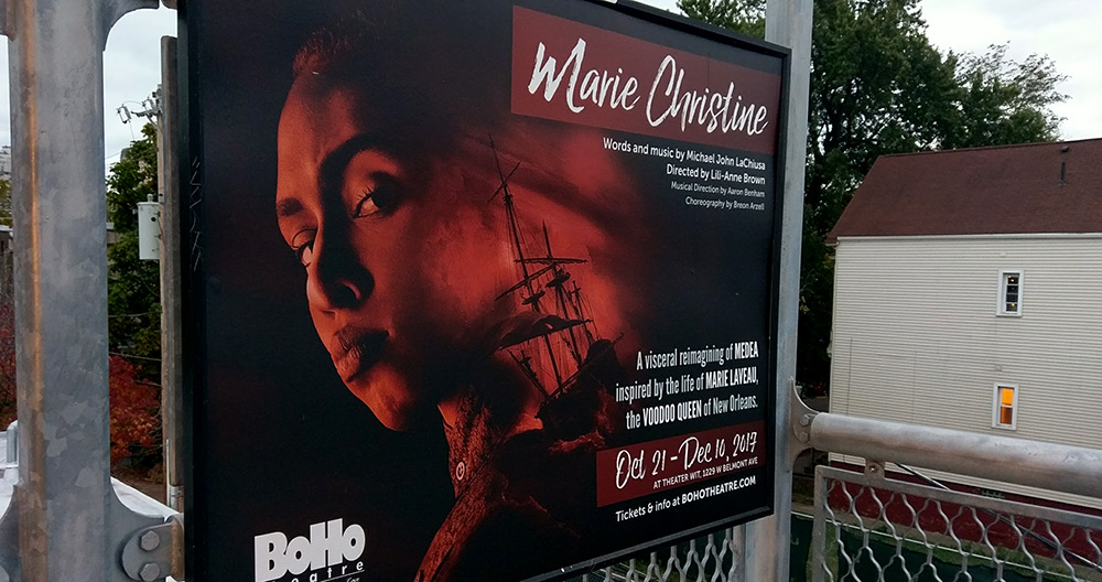 BoHo Theatre's  Marie Christine CTA ad, by Grab Bag Media