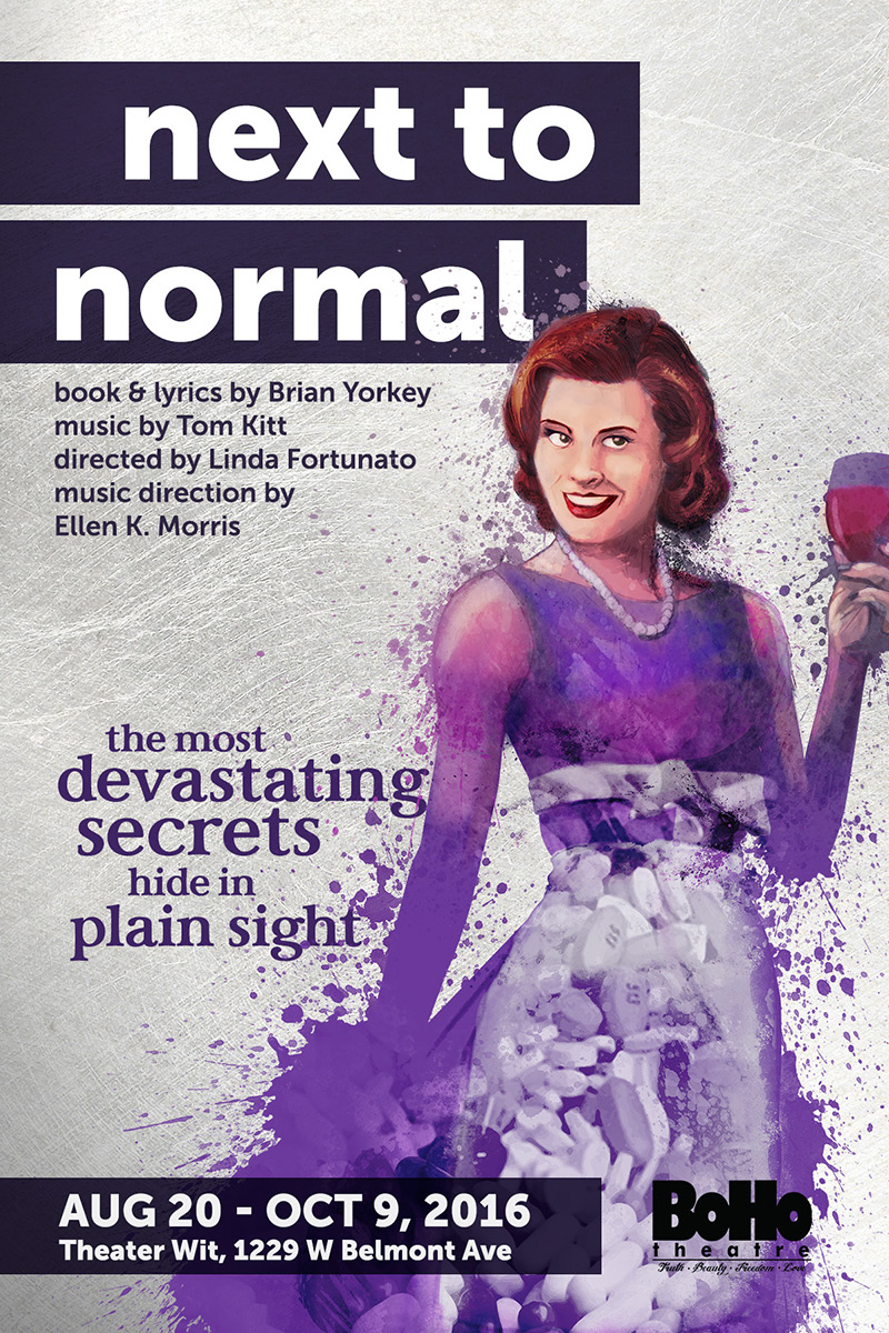 BoHo Theatre's Next To Normal poster, by Grab Bag Media