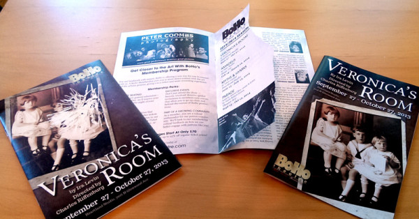 BoHo Theatre: Playbill: Veronica's Room