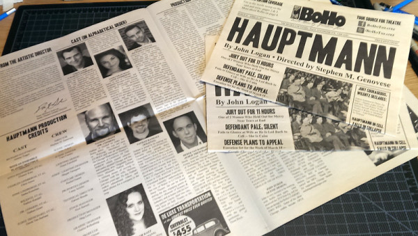 BoHo Theatre: Playbill: Hauptmann, Design by Grab Bag Media