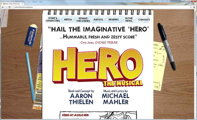 Hero: website home page