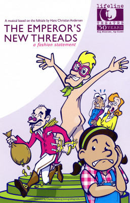 Lifeline Theatre: Poster: The Emperor's New Threads, by Grab Bag Media