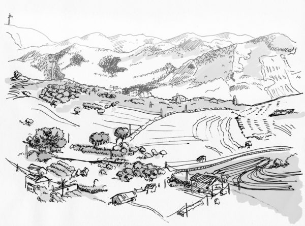 Sketch of the Sicilian countryside