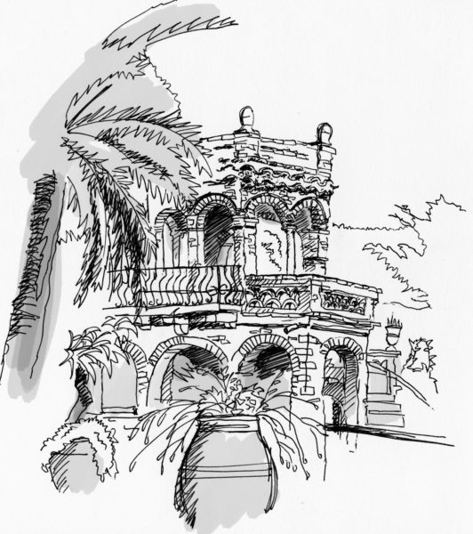 Sketch from Taormina, Italy