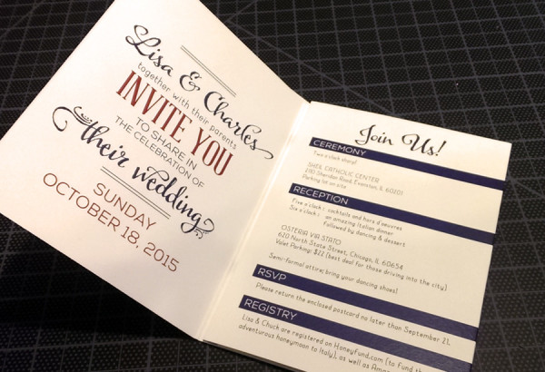 Wedding Invitation (open)